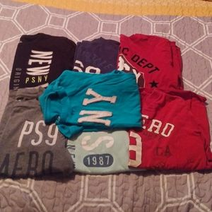 Lot of 7 PS Aeropostal tees and one tank